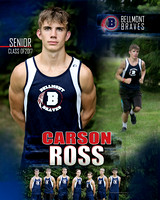 Bellmont Cross Country Senior Banners:  Class of 17