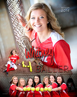 ACHS Softball Senior Banners {class of 14}