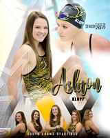 South Adams Girls Swimming Banners {class of 2017}